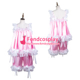 French Sissy Maid Satin Shirt And Short Pants Uniform Cosplay Costume Tailor-Made[G3725]
