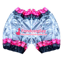 French clear PVC sissy maid bloomers/knickers/ unisex Tailor-made[G3897]
