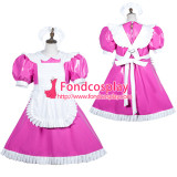 French Sissy Maid Pvc Dress Lockable Uniform Cosplay Costume Tailor-Made[G3752]