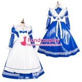 French Lockable Sissy Maid Pvc Vinyl Long Dress Uniform Cosplay Costume Tailor-Made[G1785]