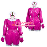 French Sissy Maid Pvc Dress Lockable Uniform Cosplay Costume Tailor-Made[G3797]
