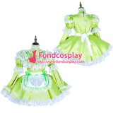 French Lockable Sissy Maid Satin Dress Uniform Cosplay Costume Tailor-Made[G1799]