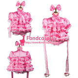 French Sissy Maid Satin Dress Lockable Uniform Cosplay Costume Tailor-Made[G2424]