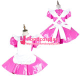 French Sissy Maid Pvc Dress Lockable Uniform Cosplay Costume Tailor-Made[G2138]