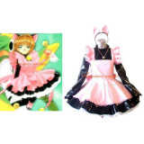 French Sissy Maid Cardcaptor Sakura Kinomoto Sakura Pvc Dress Cosplay Costume Tailor-Made[CK944]
