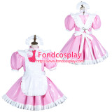 French Sissy Maid Pvc Dress Lockable Uniform Cosplay Costume Tailor-Made[G3774]