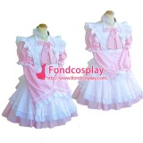 French Lockable Sissy Maid Dress Cotton  Uniform Tailor-Made[G1615]