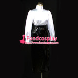 French Sissy Maid Gouvernante Fetish Black-White Satin Pvc Skirt Cosplay Costume Tailor-Made[G045]