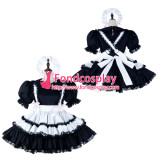 French Sissy Maid Cotton Dress Lockable Uniform Cosplay Costume Tailor-Made[G2257]