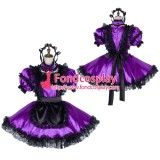 French Lockable Sissy Maid Satin Uniform Cosplay Costume Tailor-Made[G1990]
