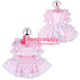 French Sissy Maid Satin Dress Lockable Uniform Cosplay Costume Tailor-Made[G2271]
