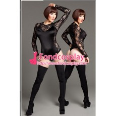 French Gothic Lolita Sissy Maid Black Body Suit Dress Cosplay Costume Tailor-Made[G1348]