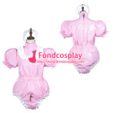 French Sissy Maid Pvc Dress Lockable Uniform Cosplay Costume Tailor-Made[G3779]
