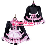 French Sissy Maid Satin Dress Lockable Uniform Cosplay Costume Tailor-Made[G2169]