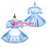 French Sissy Maid Satin Dress Lockable Uniform Cosplay Costume Tailor-Made[G3795]