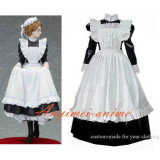 French Black-White Sexy Sissy Maid Pvc Lockable Dress Uniform Cosplay Costume Tailor-Made[CK129]