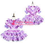 French Sissy Maid Satin Dress Lockable Uniform Cosplay Costume Tailor-Made[G3812]