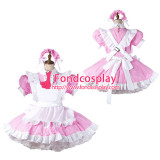 French Sissy Maid Satin Dress Lockable Uniform Cosplay Costume Tailor-Made[G2207]
