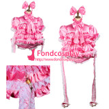 French Sissy Maid Satin Dress Lockable Uniform Cosplay Costume Tailor-Made[G3760]