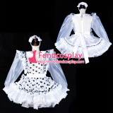 French Sissy Maid Organza Dress Lockable Uniform Cosplay Costume Tailor-Made[G2324]