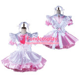 French Sissy Maid Satin Dress Lockable Uniform Cosplay Costume Tailor-Made[G2194]