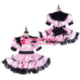 French Sissy Maid Satin Dress Lockable Uniform Cosplay Costume Tailor-Made[G2152]