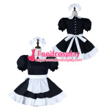 French Sissy Maid Cotton Dress Lockable Uniform Cosplay Costume Tailor-Made[G2273]