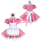 French Sissy Maid Satin Dress Lockable Uniform Cosplay Costume Tailor-Made[G2128]