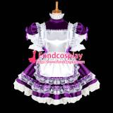 French Sexy Sissy Maid Satin Dress Uniform Lockable Dress Cosplay Costume Custom-Made[G1025]
