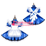 French Sissy Maid Satin Dress Lockable Uniform Cosplay Costume Tailor-Made[G2137]