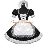 French Sexy Sissy Maid Pvc Dress Uniform Cosplay Costume Tailor-Made[G401]
