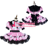 French Sissy Maid Satin Dress Lockable Uniform Cosplay Costume Tailor-Made[G2124]