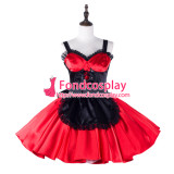 French Sissy Maid Satin Dress Lockable Uniform Cosplay Costume Tailor-Made[G2329]