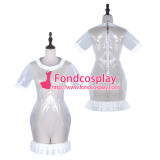 French Sissy Maid Clear Pvc Dress Lockable Uniform Cosplay Costume Tailor-Made[G2322]