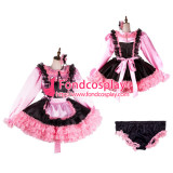 French Sissy Maid Satin Dress Lockable Uniform Cosplay Costume Tailor-Made[G2121]