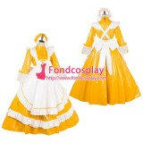 French Lockable Sissy Maid Pvc Vinyl Long Dress Uniform Cosplay Costume Tailor-Made[G1786]