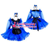 French Sissy Maid Satin Dress Lockable Uniform Cosplay Costume Tailor-Made[G2035]