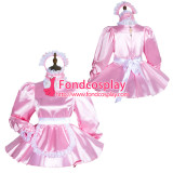 French Sissy Maid Satin Dress Lockable Uniform Cosplay Costume Tailor-Made[G3762]
