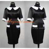 French Sexy Sissy Maid The Satin Smock Uniform Apron Dress Cosplay Costume Tailor-Made[G393]