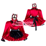 French Sissy Maid Satin Dress Lockable Uniform Cosplay Costume Tailor-Made[G2034]