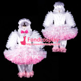 French Lockable Adult Sissy Baby Satin-Organza Dress Pants Cap Tailor-Made[G2402]
