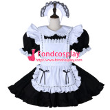 French Sissy Maid Cotton Dress Lockable Uniform Cosplay Costume Tailor-Made[G2276]