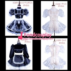 French Clear Pvc Sissy Maid Lockable Dress Tpu Uniform Tailor-Made[G1503]