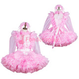 French lockable Sissy maid Satin-Organza dress cosplay costume Tailor-made[G3821]