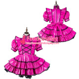 French Sissy Maid Pvc Dress Lockable Uniform Cosplay Costume Tailor-Made[G2166]