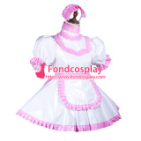 French Sissy Maid Pvc Dress Lockable Uniform Cosplay Costume Tailor-Made[G3734]