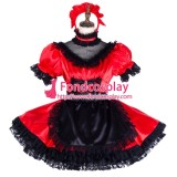 French Lockable Sissy Maid Satin Uniform Cosplay Costume Tailor-Made[G1994]