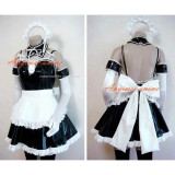 French Sexy Sissy Maid Pvc Dress Uniform Cosplay Costume Tailor-Made[CK895]