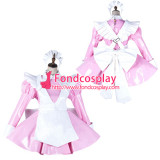 French Sissy Maid Pvc Dress Lockable Uniform Cosplay Costume Tailor-Made[G2141]