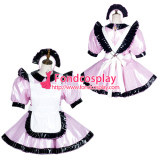 French Sissy Maid Pvc Dress Lockable Uniform Cosplay Costume Tailor-Made[G3778]